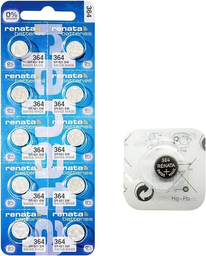 Renata 364 Sr621sw Silberoxid Batterien Für Armbanduhr In Der Schweiz Hergestellt Niedriger Energiebedarf 10 Stück Küche Haushalt