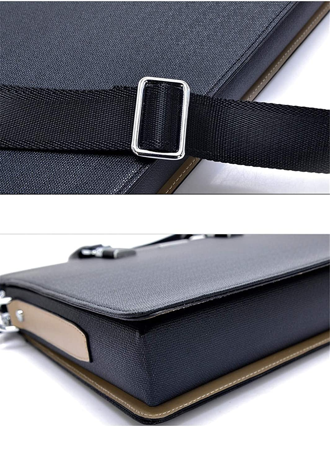 PU Leather Laptop Bag For Office Large Capacity Waterproof Casual Man Shoulder Document Bags Tote