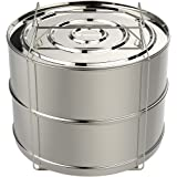 ekovana 8 qt Stackable Steamer Insert Pans with sling handle - compatible with 8 quart Instant Pot - Pressure Cooker…