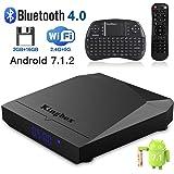 Kingbox K3 Android 7.1 TV Box de 2GB RAM + 16GB ROM/S912/1000M LAN/Bluetooth 4.0/2.4G + 5G Dual WiFi/4K/64 Bit/Octa Core/H.265 con Mini Teclado Inalámbrico Gratuito - [2018 Última Edición]