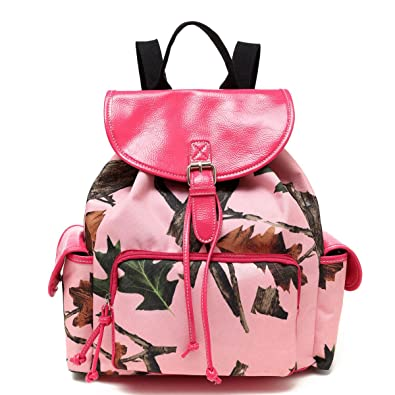 Pink Forest Pink Camo Ladies Backpack Purse, Hot Pink: Handbags ...