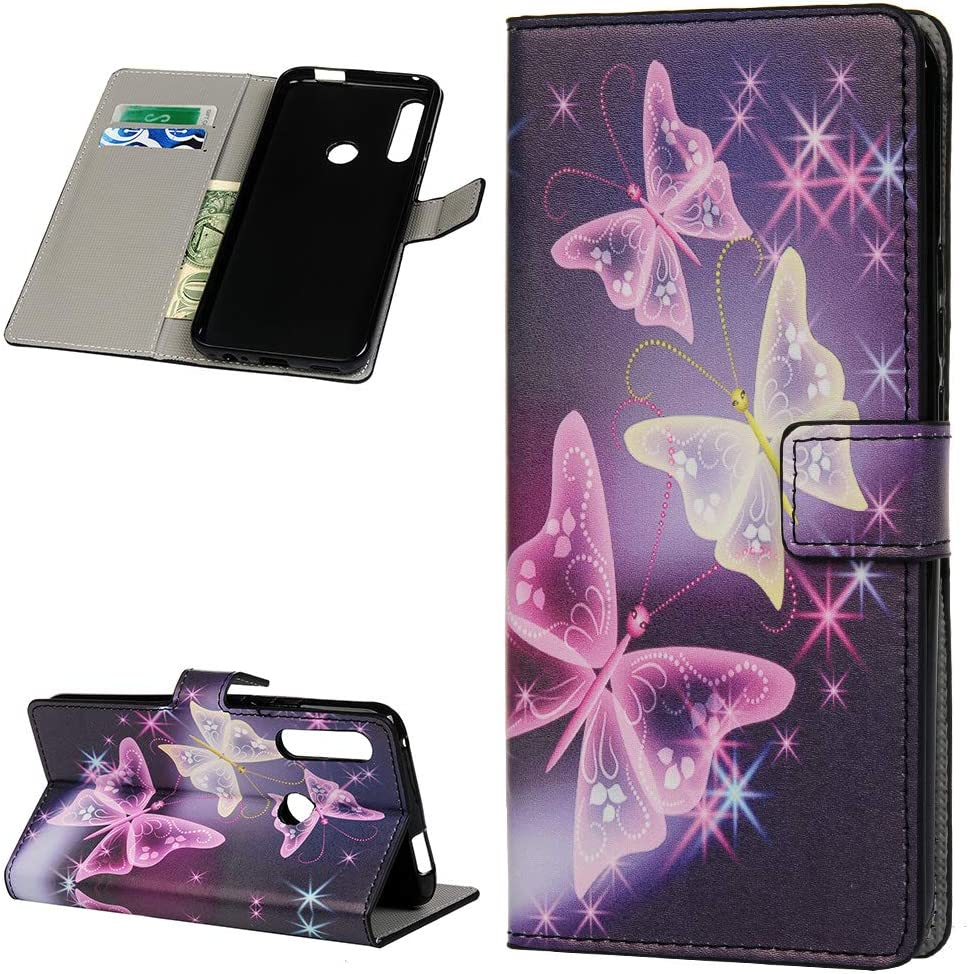 Shukukan Huawei P Smart Z 2019 Cases 3D Wallet Soft PU Leather Folio Flip Cover Cases with Cute Stickers Card Holders Viewing Stand Anti Slip Protective Holster for Huawei P Smart Z 2019 Wolf