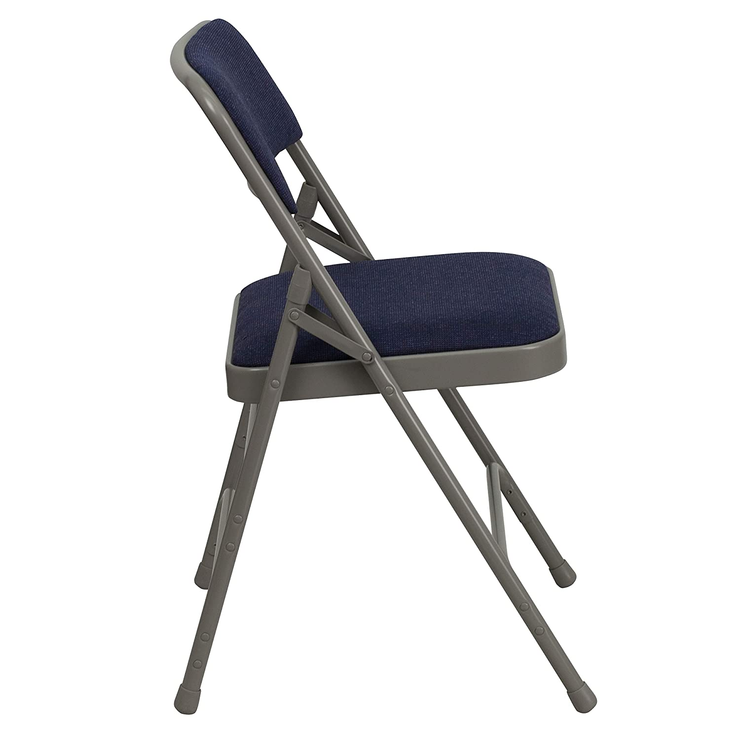 Hercules Fabric Metal Series Curved Triple Braced - Best Folding Chair for Padded
