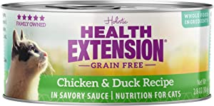 Health Extension Grain Free Chicken & Duck Recipe Canned Wet Cat Food - (24) 2.8 Oz Cans