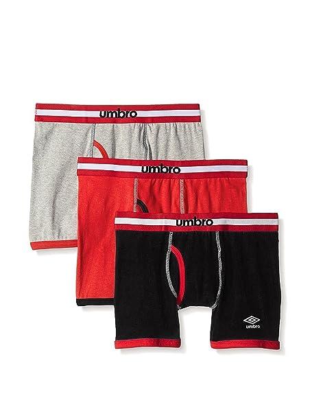 2018 Schuhe beste Seite High Fashion Umbro Men's 3-Pack Boxer Briefs Underwear Cotton Multicolor