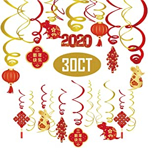 Amazon.com: 2020 Chinese New Year Decorations-Hanging ...