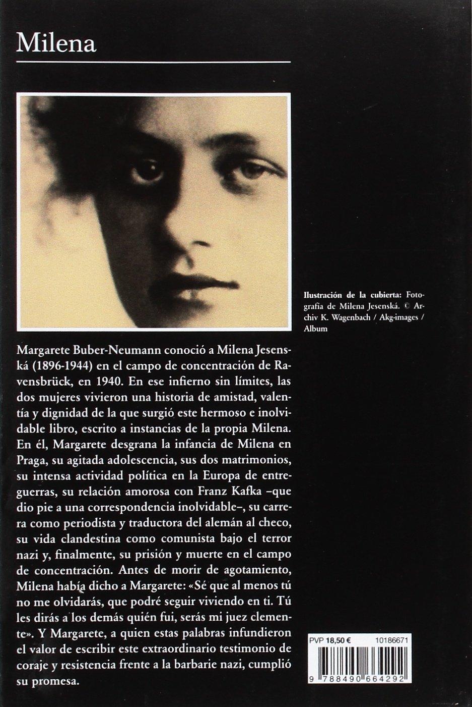 Milena (Volumen independiente): Amazon.es: Margarete Buber ...