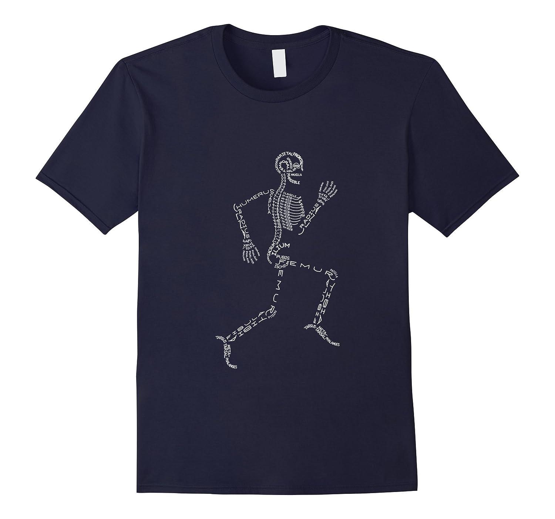 Anatomy Medicine Human Skeleton Bone Name Geek Tshirt-BN