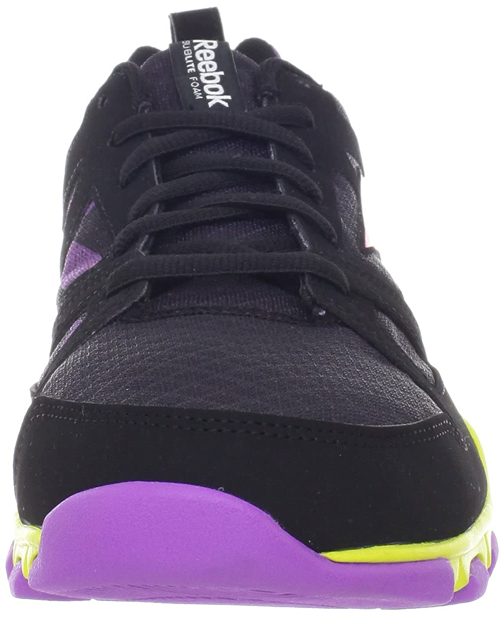 Womens SubLite TR W Shoe,Black/Party Purple/Coral Contrast/Solar Green,6 M US Reebok