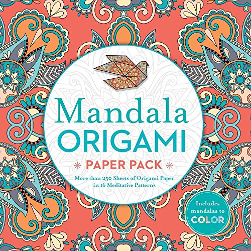 Mandala Origami Paper Pack: More than 250 Sheets of Origami Paper in 16 Meditative Patterns