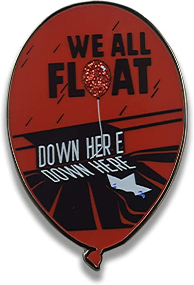 IT Stephen King Film Inspired Enamel Pins We All Float Down Here - (Balloon)
