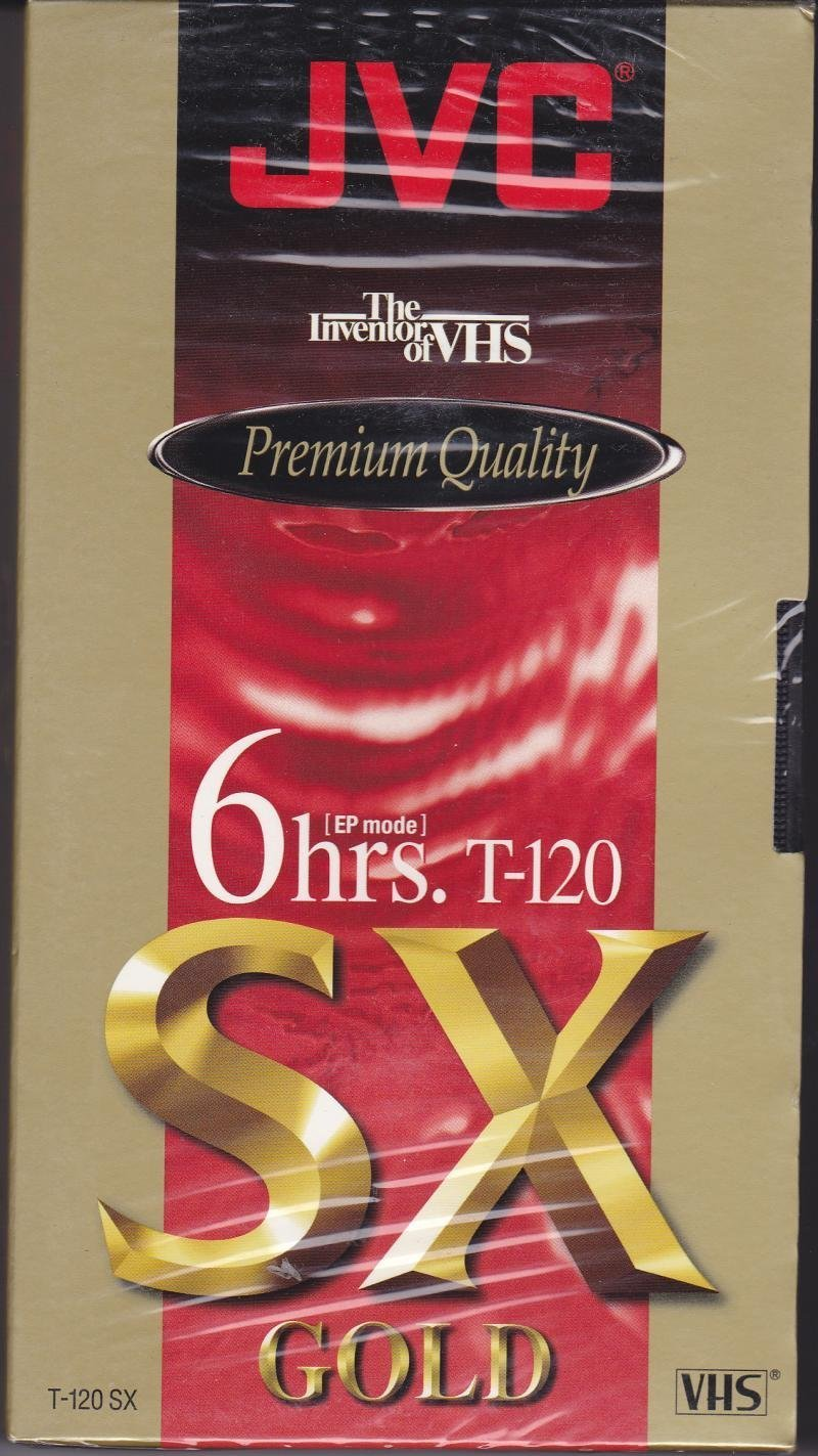 JVC Premium Quality 6 Hrs. T-120 Sx Gold VHS Tapes 4 Pack by JVC