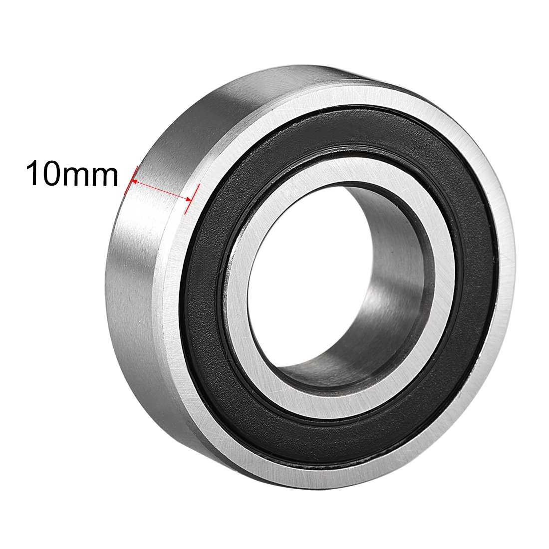 uxcell 6003-2RS Ball Bearing 17mm x 35mm x 10mm Double Sealed 180103 Deep Groove Bearings Carbon Steel Pack of 2
