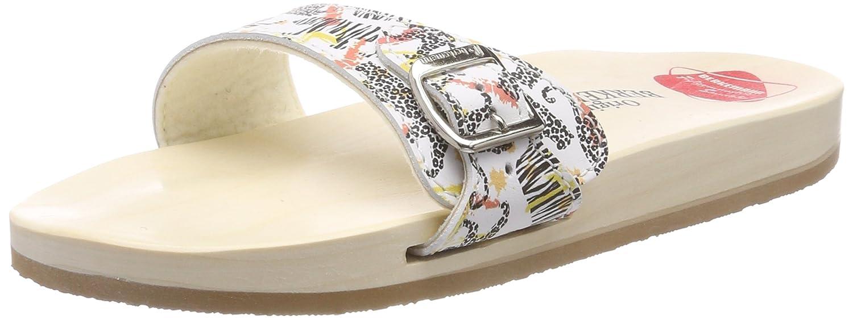 Berkemann Original Sandale, Zuecos Unisex Adulto 45 1/3 EU Multicolor (Wei/Leopard 010)