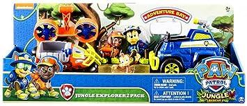 Paw Patrol Jungle Rescue Chase Zuma Explorateurs De La Junge 2 Figurines Véhicules à Fonction De La Pat Patrouille
