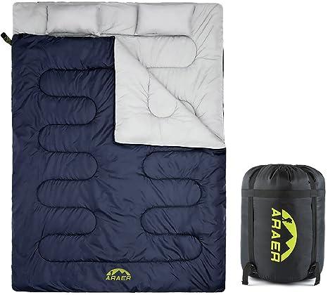 Saco de dormir doble techo saco de dormir Dos personas algodón Saco de dormir Outdoor Dos