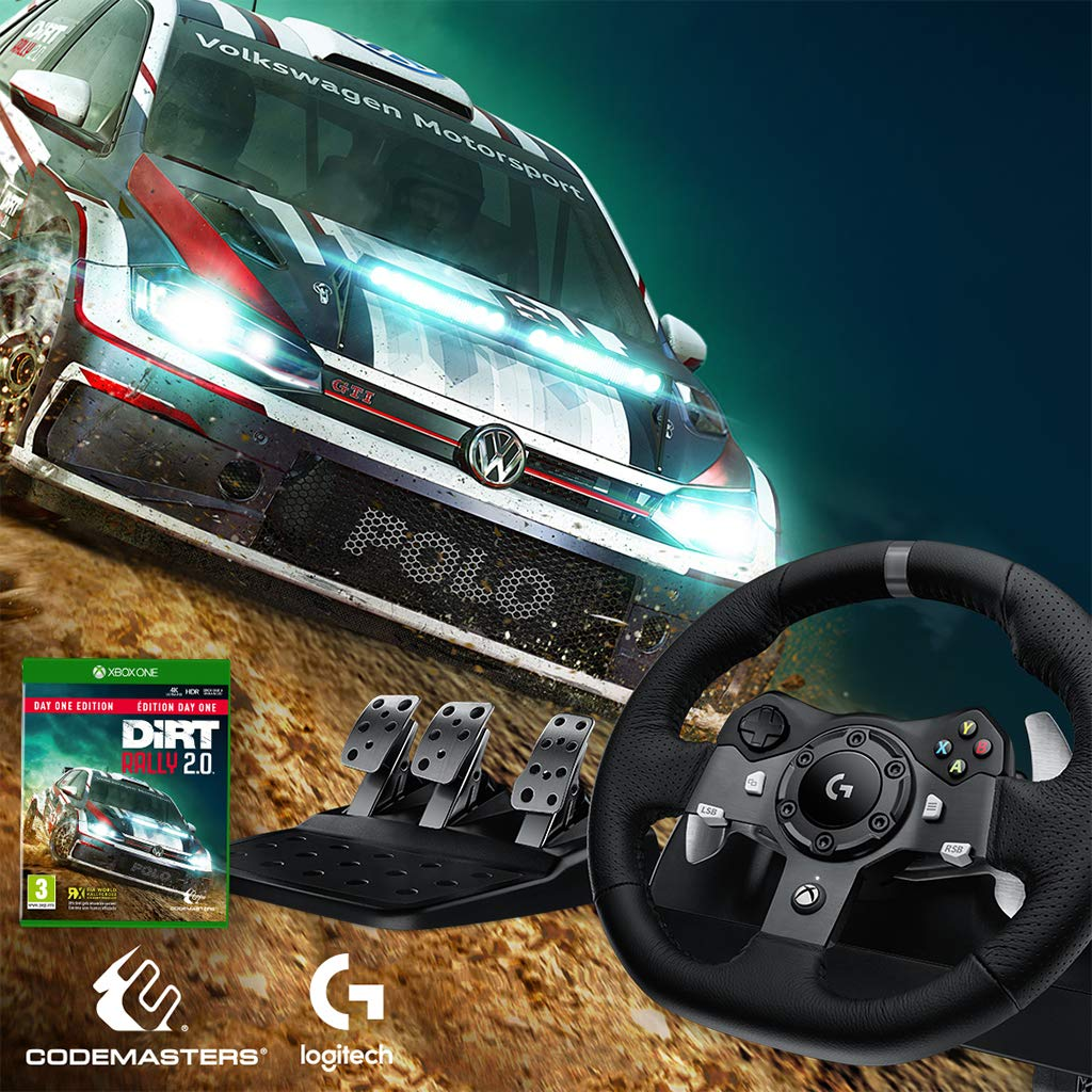 66e9bd9a00a Amazon.com: Logitech G920 Dual-Motor Feedback Driving Force Racing Wheel  with Responsive Pedals for Xbox One: Computers & Accessories