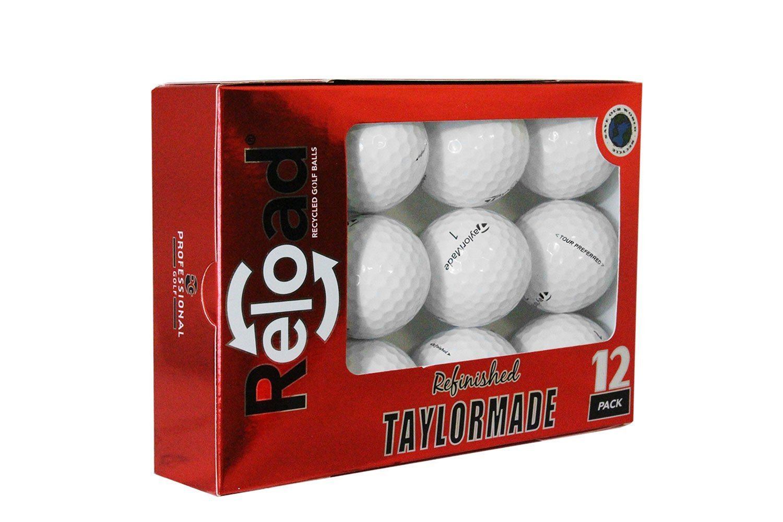 Reload Recycled Golf Balls Taylormade Tour Preferred Refurbished Golf Balls (12 Pack) [並行輸入品]   B072JRRQM9