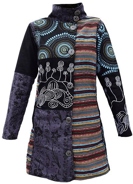 5c055e650 Abrigo largo Little Kathmandu, de patchwork, estilo hippie, con ...