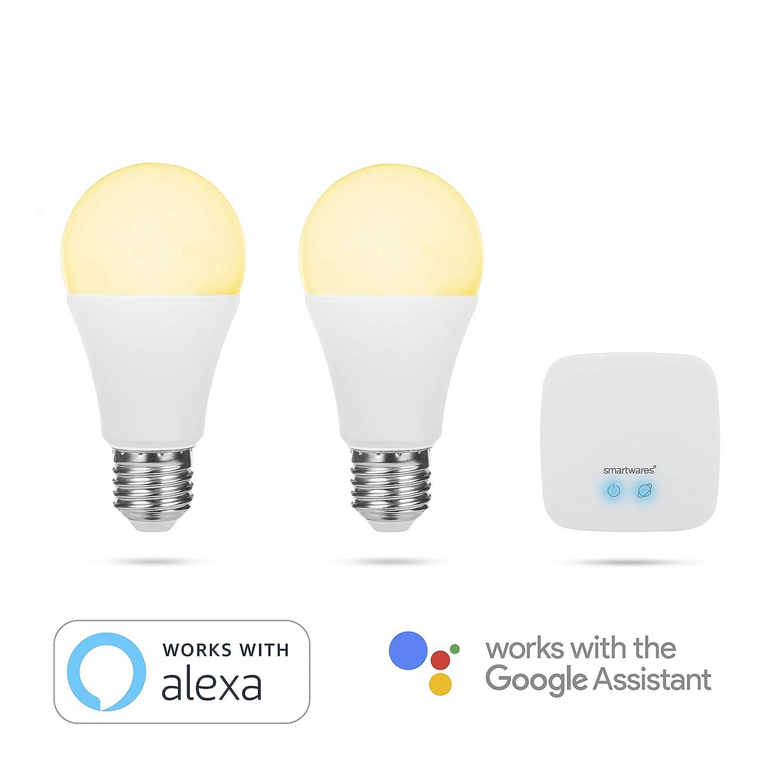 Smartwares Pro Series Kit Confort, Bombillas Inteligentes, luz Blanca Ajustable, 2 Unidades: Amazon.es: Iluminación