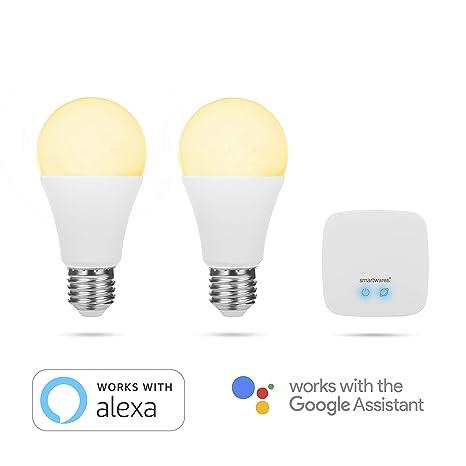 Smartwares Pro Series Kit Confort, Bombillas Inteligentes, luz Blanca Ajustable, 2 Unidades