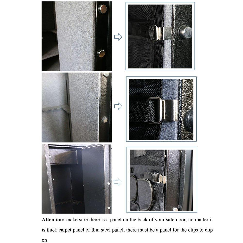 Amazon.com  SPIKA Small Gun Safe Door Panel Organizer(14W48H)  Sports \u0026 Outdoors  sc 1 st  Amazon.com & Amazon.com : SPIKA Small Gun Safe Door Panel Organizer(14W48H ...