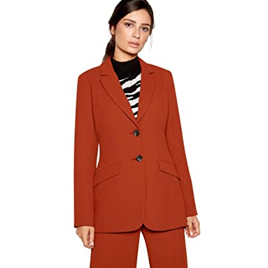 32d80cf8357d6 Principles Womens Dark Tan High Waisted  Tobacco  Wide Leg Suit Trousers 10