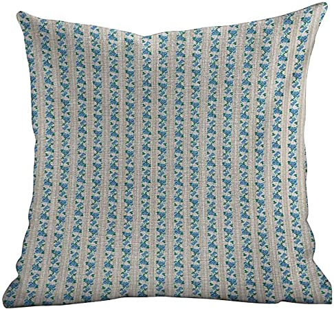Teal Cushions Pillows Blue Green Ivory