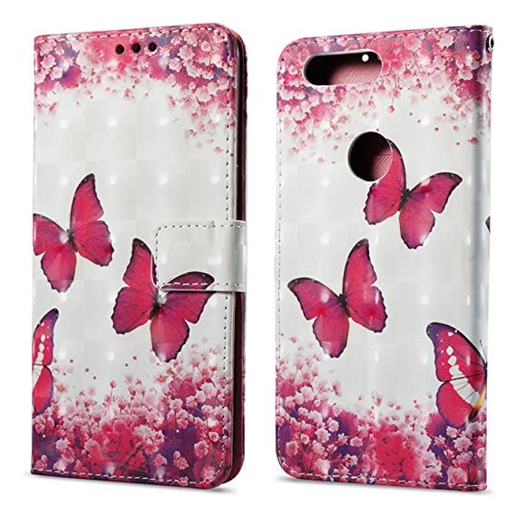 purchase cheap f90e4 6bc41 Amazon.com: OnePlus 5T Case, OnePlus 5T Flip Case Cute 3D Pattern PU ...