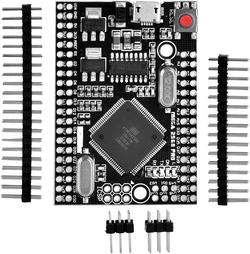 Gowoops MEGA 2560 PRO Board Embed CH340G//ATMEGA2560-16AU Chip with Male pin headers Compatible for arduino Mega2560 DIY