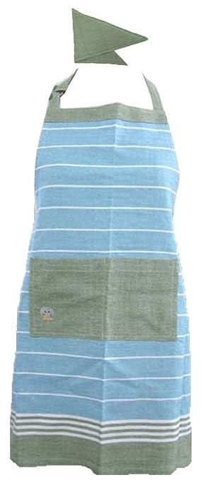 b36d0d45b35f38 グローバルビレッジ (GV) エプロン 子供用 三角巾付き ミニョン キッズエプロン ゾウ 538451