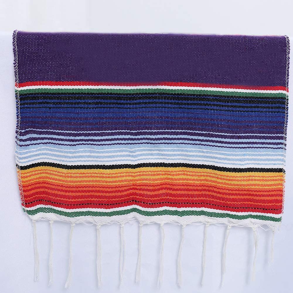 Humorous.P 8 Pieces Mexican 14inx108in Table Runners Cotton Table Runners for Theme Party by Humorous.P (Image #5)