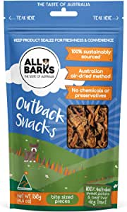ALL BARKS Outback Snacks 130g - Sweet Potato & Beef Natural Australian Dog Treats - Snacks, Training or Rewards