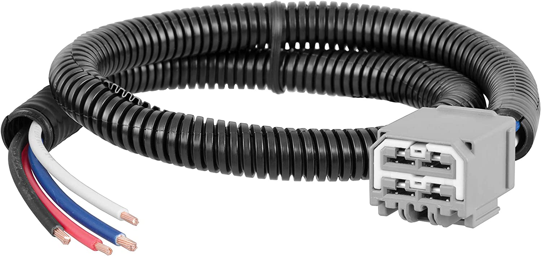CURT 51444 Quick Plug Splice-in Electric Trailer Brake Controller Wiring Harness for Select Dodge Durango Jeep Grand Cherokee