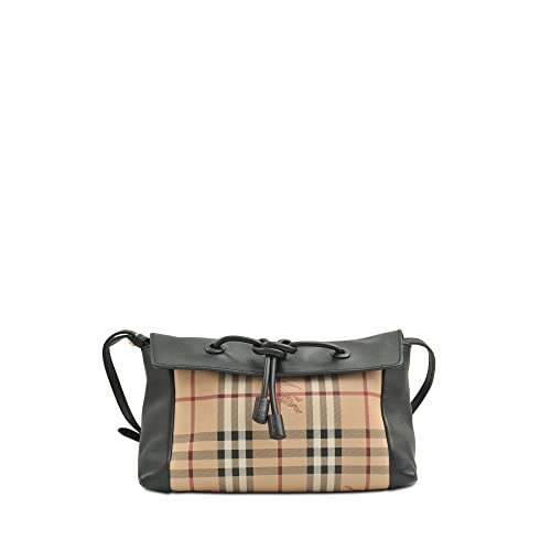 4ece3bd4b96d Image Unavailable. Image not available for. Color  Burberry Women s Small  Leather and Haymarket Check Clutch Bag Black ...