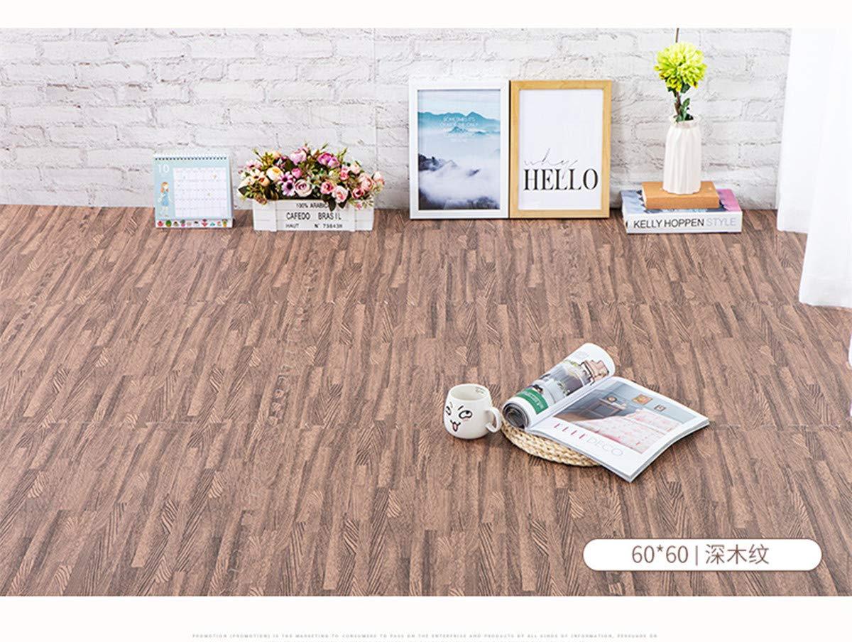 Yoga Amarillo Ejercicio No T/óxico//Perfectas para Proteger el piso Alfombra de Juego 16 Piezas EVA Espuma Puzzle Alfombra//Efecto Madera Rompecabezas para cubrir el suelo //