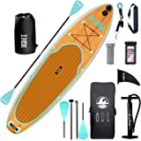 """DAMA 9'6""""/10'6""""/11'Inflatable Stand Up Paddle Board, Yoga Board, Camera Seat, Floating Paddle, Hand Pump, Board Carrier, Wate"""