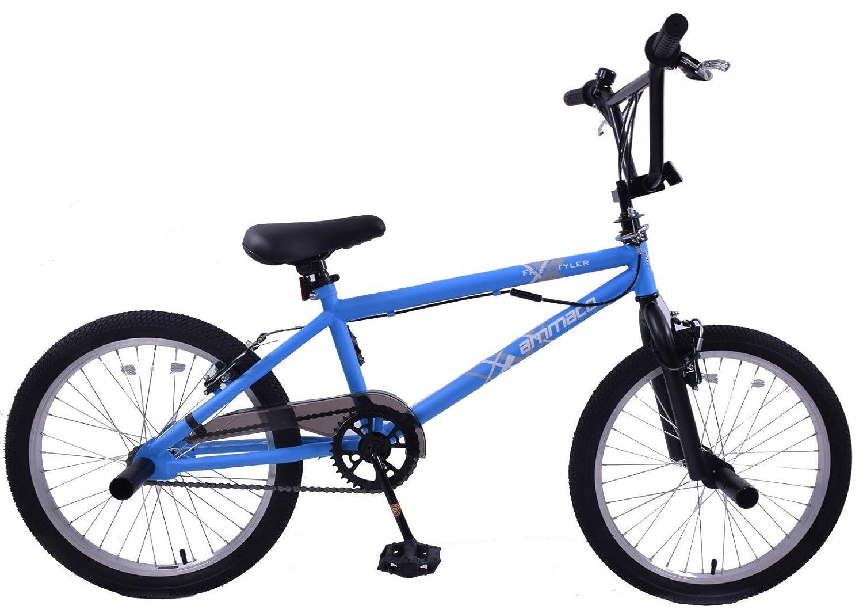 Ammaco Freestyler 20 Wheel Kids BMX Bike 360 Gyro & Stunt Pegs Matte Blue