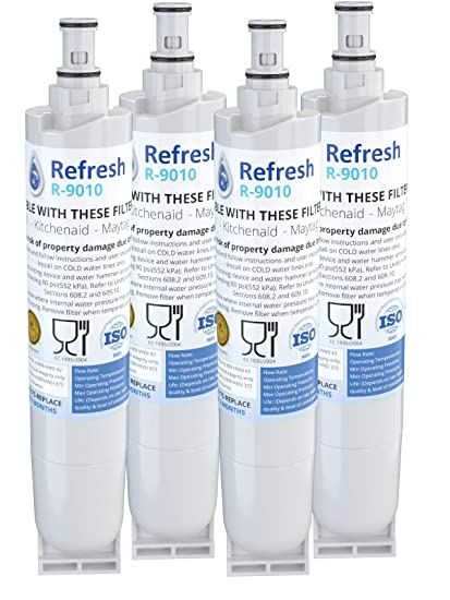 Refresh Replacement for Whirlpool 4396508, 4396510, EDR5RXD1, NLC240V,  Kenmore 9085, Kitchenaid, Maytag, and Whirlpool Side By Side Refrigerator  Water