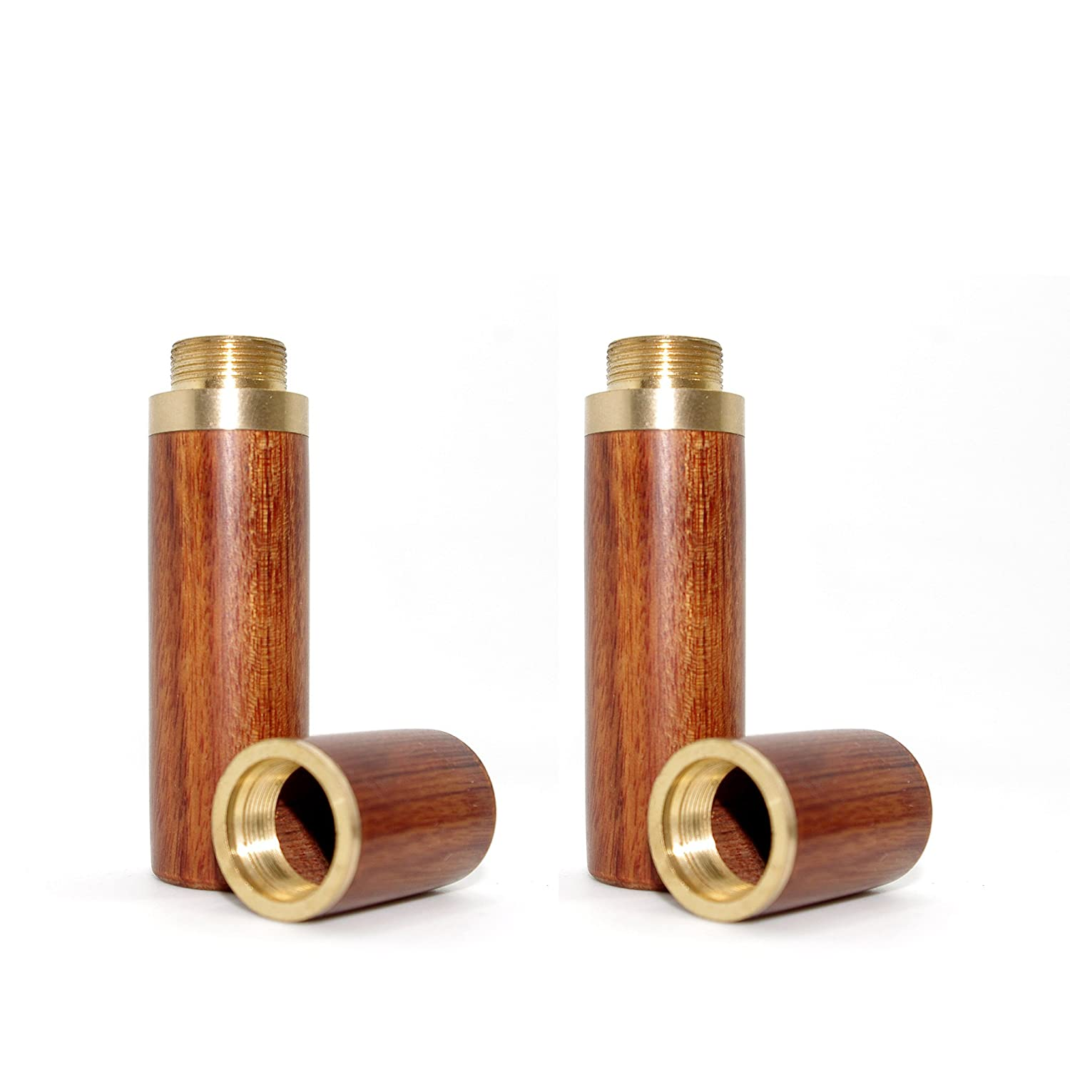 Vecent Portable Wood Toothpick Holder Mini Toothpick box Pocket Toothpick Holder Light Brown 2 Pcs COMINHKPR115182