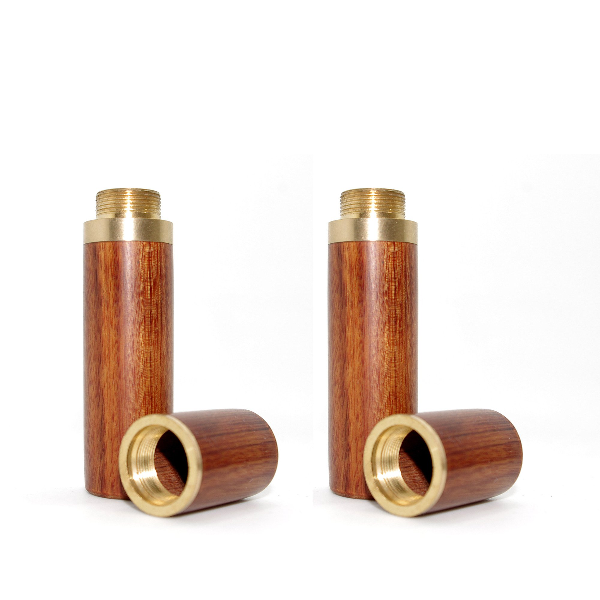 Vecent Portable Wood Toothpick Holder Mini Toothpick box Pocket Toothpick Holder Light Brown 2 Pcs