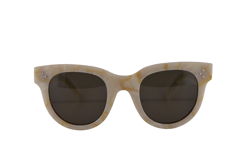 aee4194e483e8 Amazon.com  Celine CL41053 S Baby Audrey Sunglasses White w Brown Lens 47mm  21JNR CL41053S CL 41053 S  Clothing