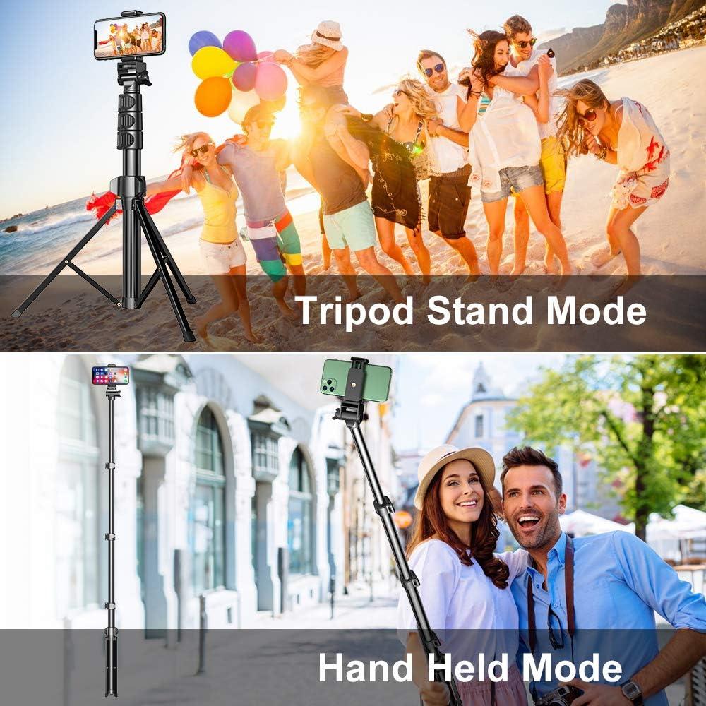 Travel Phone Tripod Compatible with iPhone 12 Pro Max Camera Samsung S20 Ultr Selfie Stick Tripod with Bluetooth Remote Control Cocoda Phone Tripod 56 Expandable 11 Pro Max 12 Mini