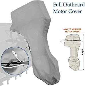 Seamander Outboard Motor Cover,Full Motor Outboard Cover, Engines Cover Waterproof Boat Cover