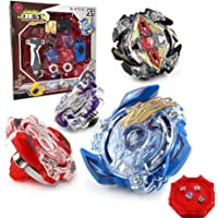 OBEST NIU Conjuntos de Metal de Beyblade Spinning Fusión 4D 4 Box Gyro Lucha Maestro Cadena Launcher con Estadio Infinity Nado
