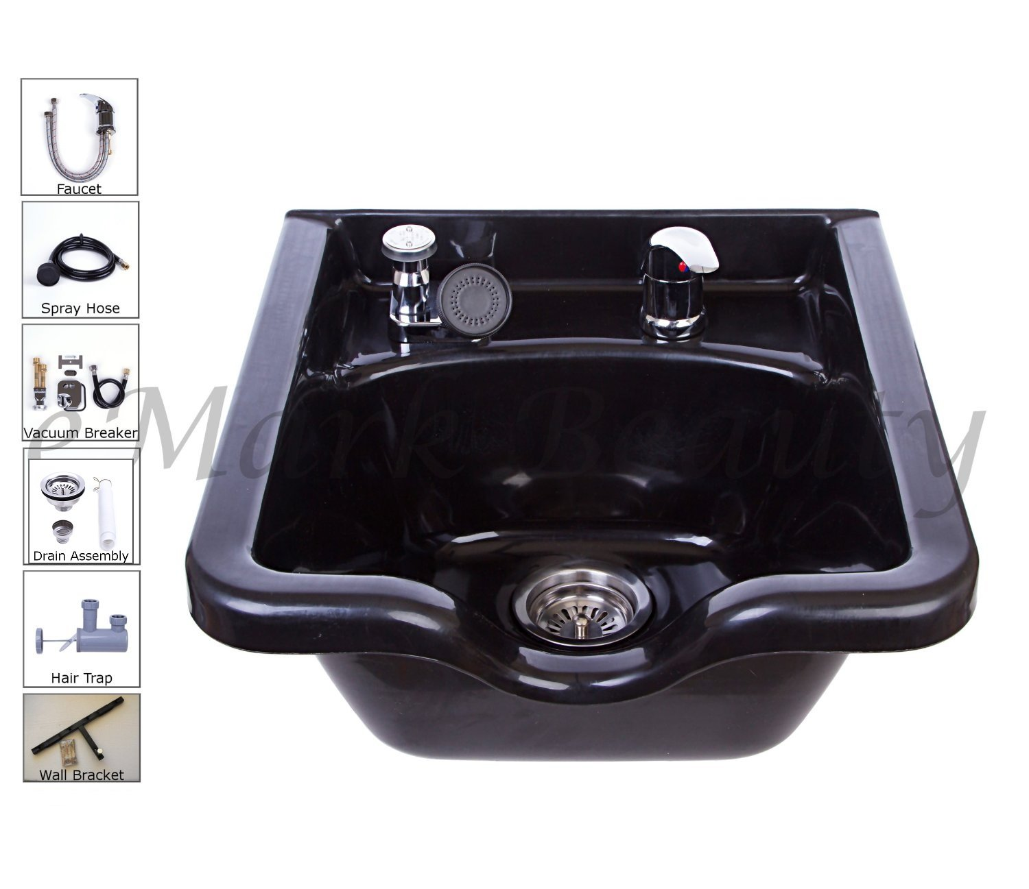 Salon Square ABS Plastic Shampoo Bowl Sink TLC-B11 KSGT