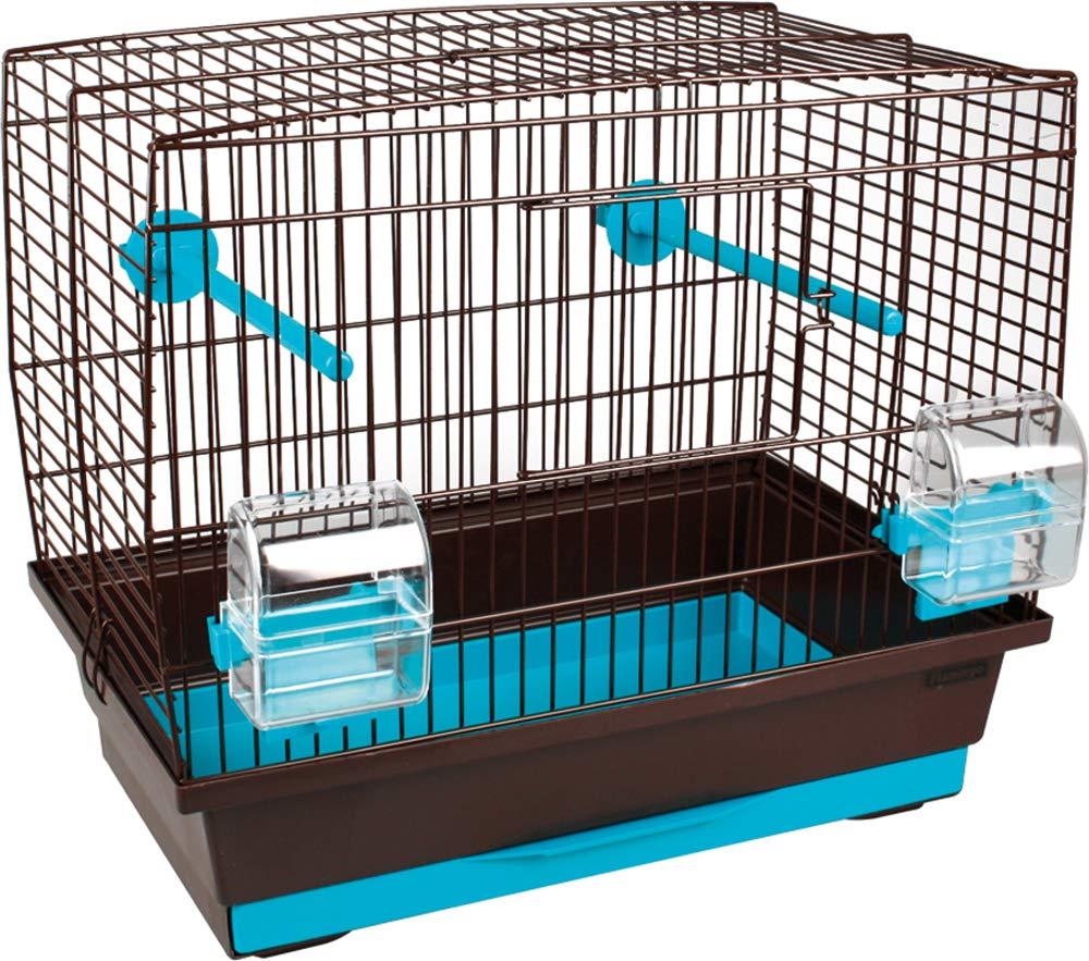 cage oiseau brun / turquoise Flamingo