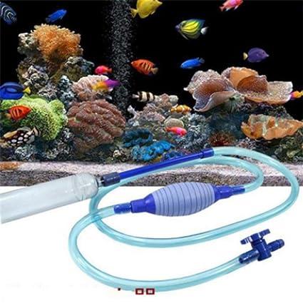 canvivi Sifón y limpiador para Acuario Pez y cambio de depósito Agua Sifón filtro de agua