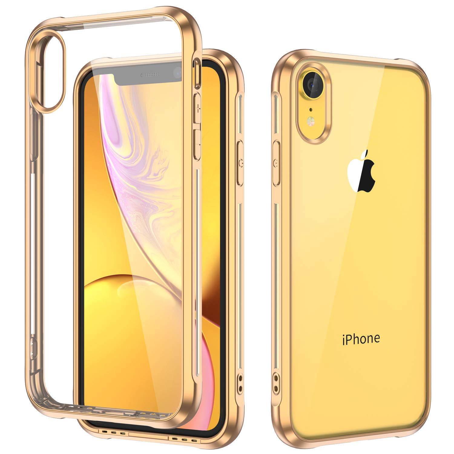 separation shoes 9213b 61cfe ULAK iPhone XR Case Clear Yellow Bumper, Slim Fit Transparent Flexible Soft  TPU Bumper Shock-Absorption Cover for Apple iPhone XR Case (2018)-Retail ...