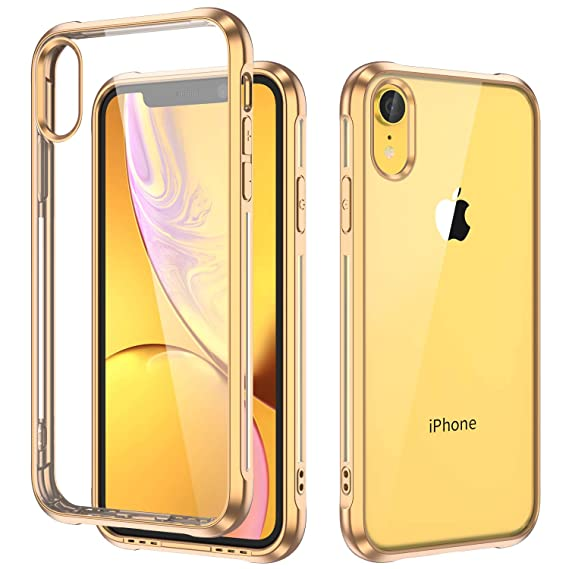 separation shoes dcc34 ec4fa ULAK iPhone XR Case Clear Yellow Bumper, Slim Fit Transparent Flexible Soft  TPU Bumper Shock-Absorption Cover for Apple iPhone XR Case (2018)-Retail ...